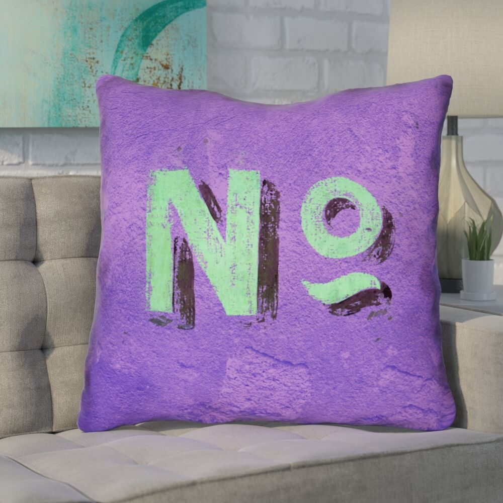 Enciso Graphic Wall Euro Pillow with Zipper Color: Purple/Green