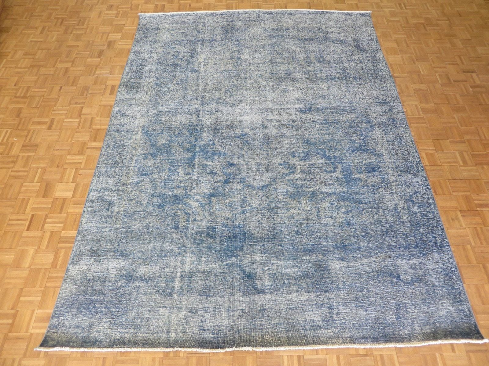 One-of-a-Kind Padro Hand-Knotted Wool Sky Blue Area Rug