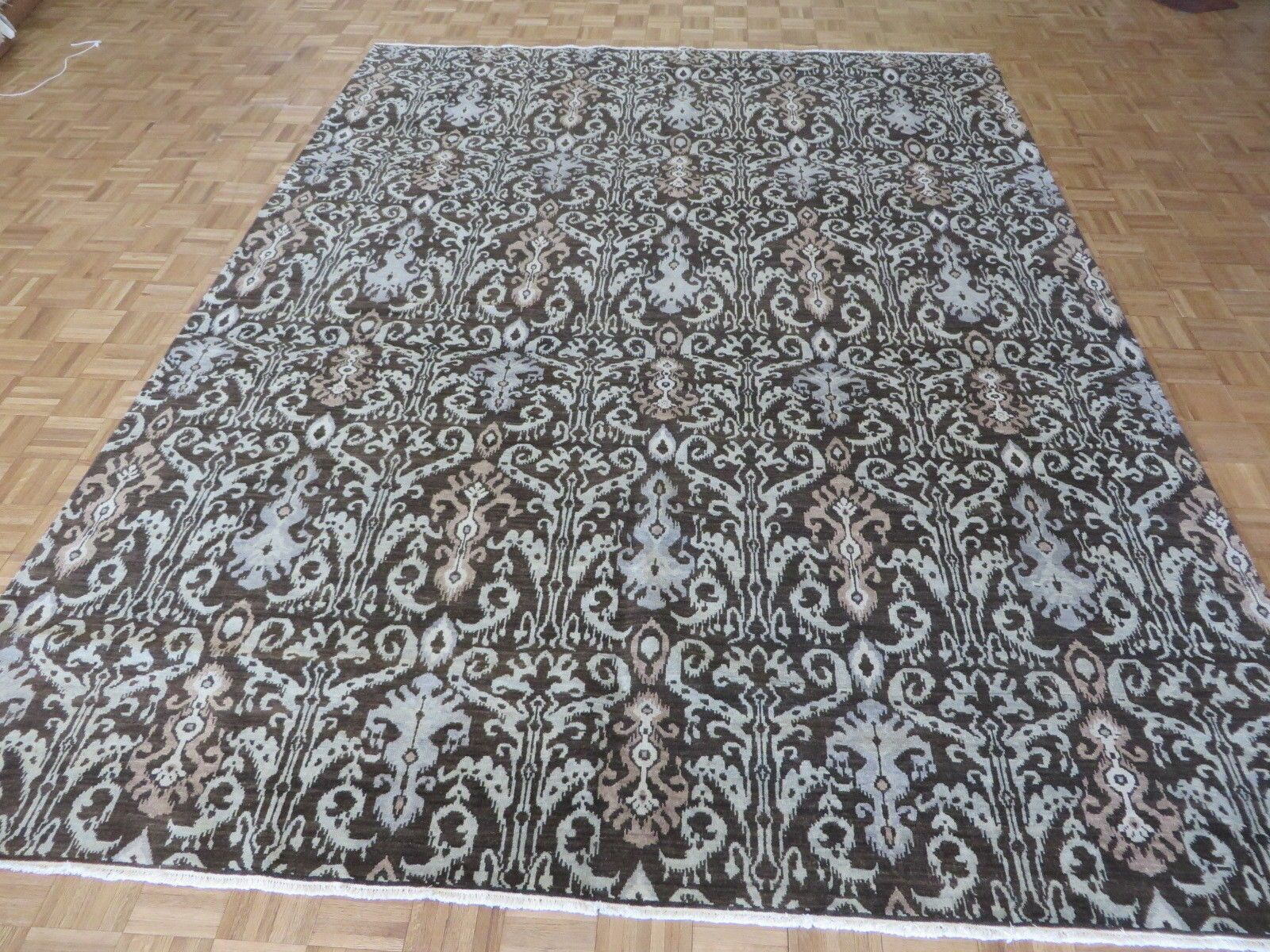 One-of-a-Kind Railsback Ikat Hand-Knotted Brown Area Rug Rug Size: Rectangle 8'10
