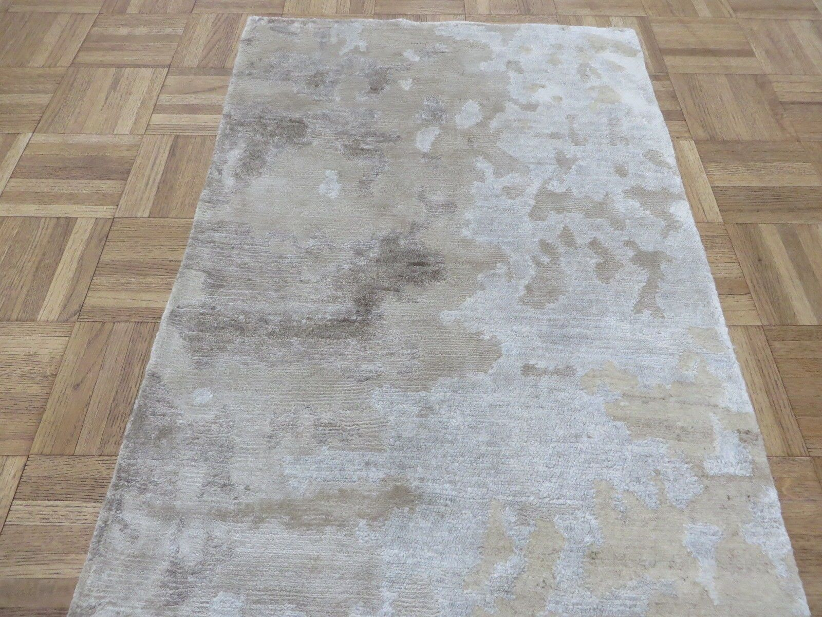 One-of-a-Kind Padang Sidempuan Modern Hand-Knotted Wool Gray Area Rug Rug Size: Rectangle 2' x 2'11