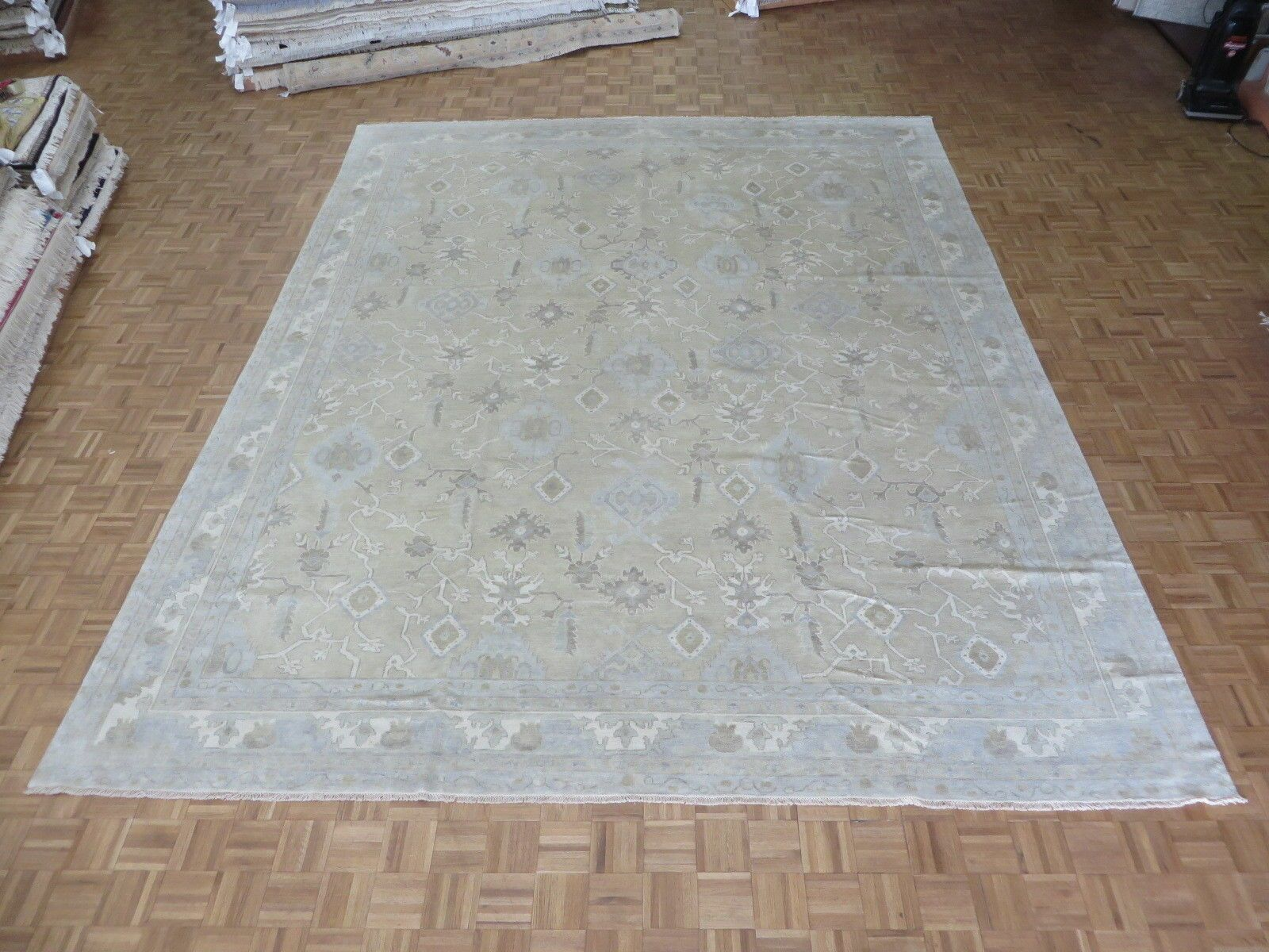 One-of-a-Kind Pellegrino Turkish Oushak Hand-Knotted Wool Beige Area Rug Rug Size: Rectangle 11'10