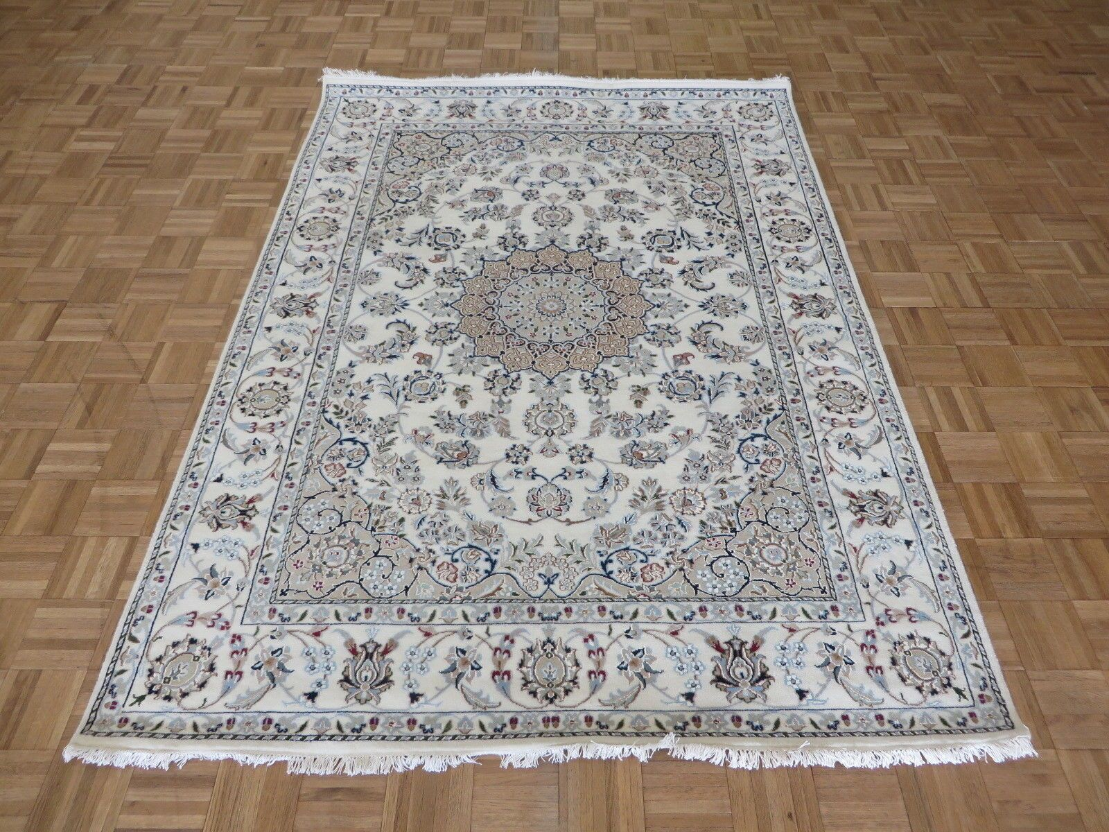 One-of-a-Kind Padro Nain Hand-Knotted Ivory Area Rug Rug Size: Rectangle 5'9