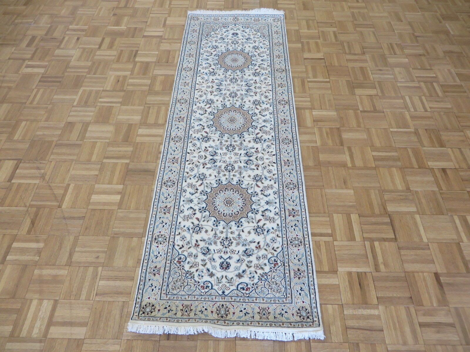 One-of-a-Kind Padro Nain Hand-Knotted Wool Ivory Area Rug Rug Size: Runner 2'8