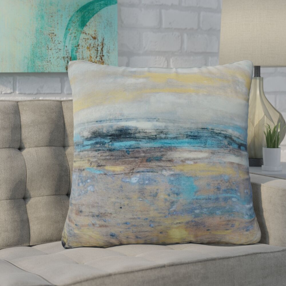 Skyline Velvet Throw Pillow