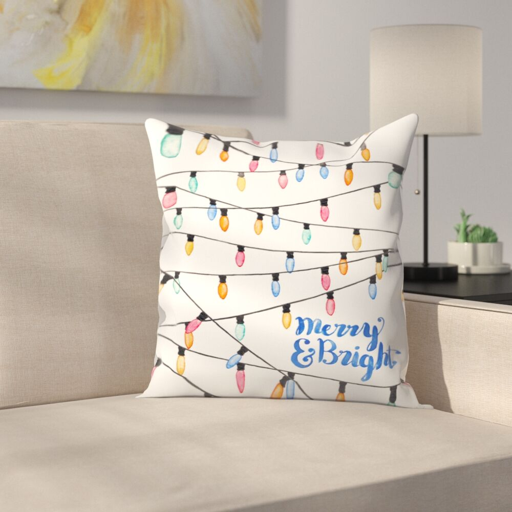 Elena O'Neill Merry and Bright Throw Pillow Size: 18