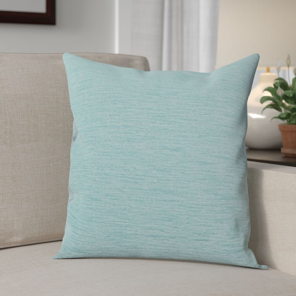 Danin Modern Outdoor Throw Pillow Size: Medium, Color: Pool