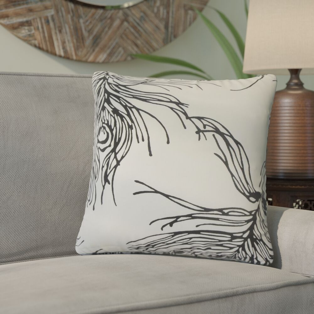 Berdina Graphic Cotton Throw Pillow