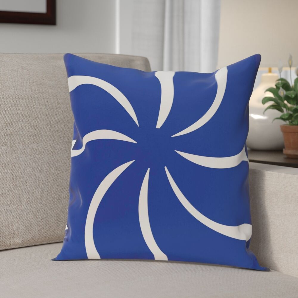 Decorative Holiday Geometric Print Throw Pillow Size: 16