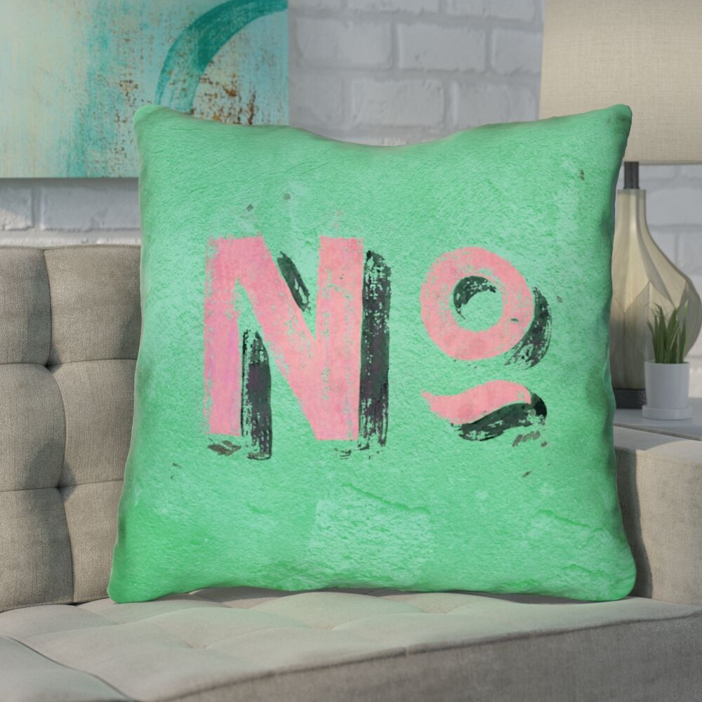Enciso Graphic Square Wall Euro Pillow Color: Green/Pink