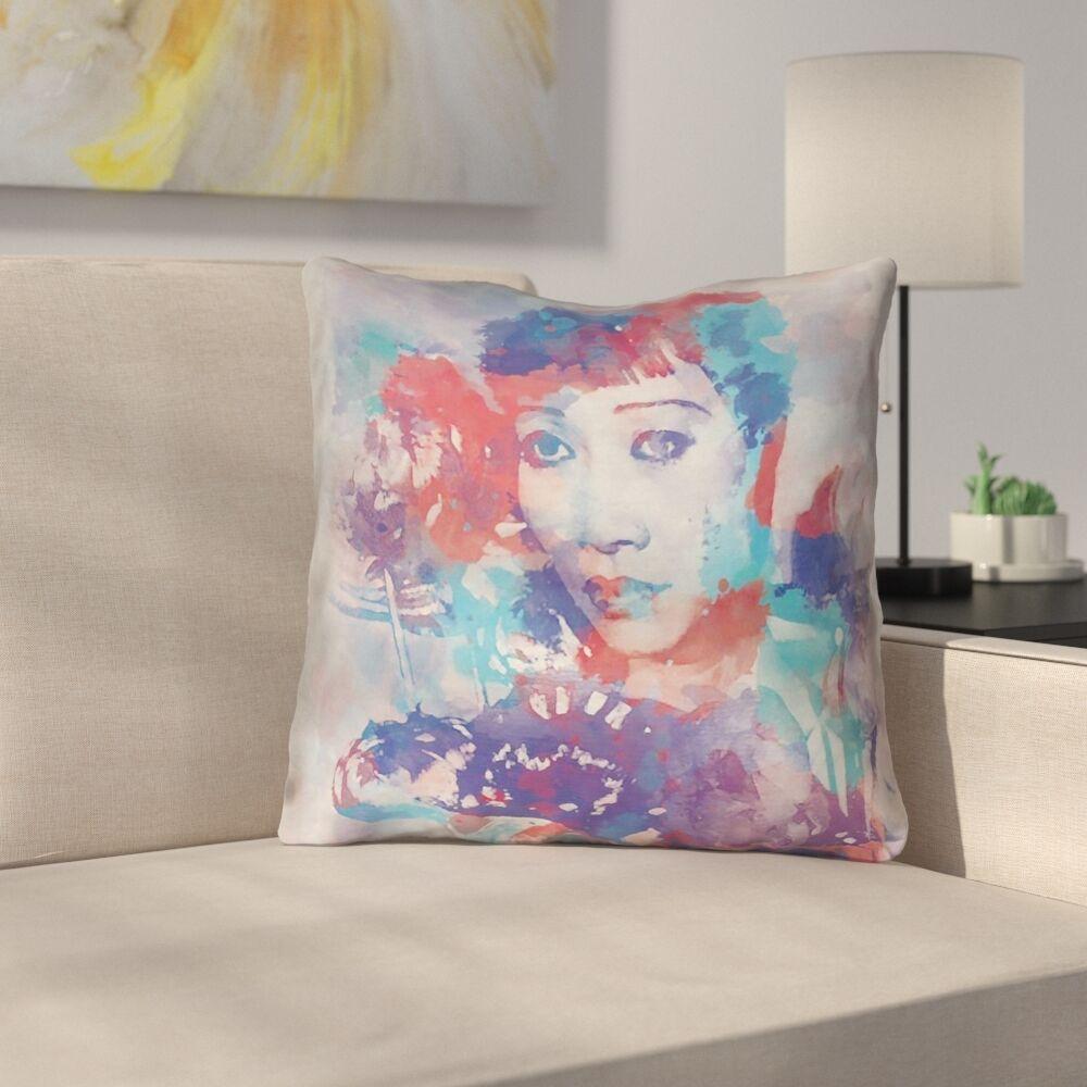 Watercolor Portrait 100% Cotton Throw Pillow Size: 18