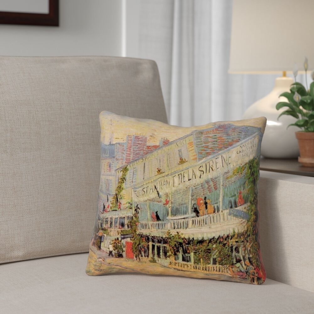 Bristol Woods Restaurant de la Sirene Double Sided Print Throw Pillow Size: 20