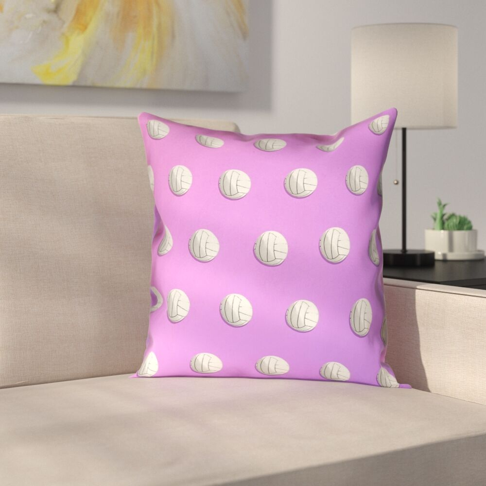 Volleyball Double Sided Print Pillow Cover Size: 18