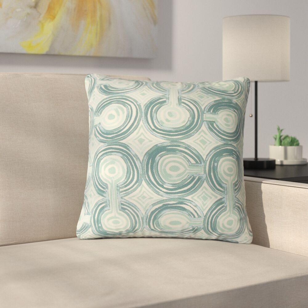 Strader Geometric Cotton Throw Pillow