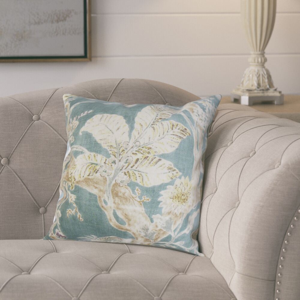 Ilana Throw Pillow (Set of 2) Color: French Blue, Size: 18