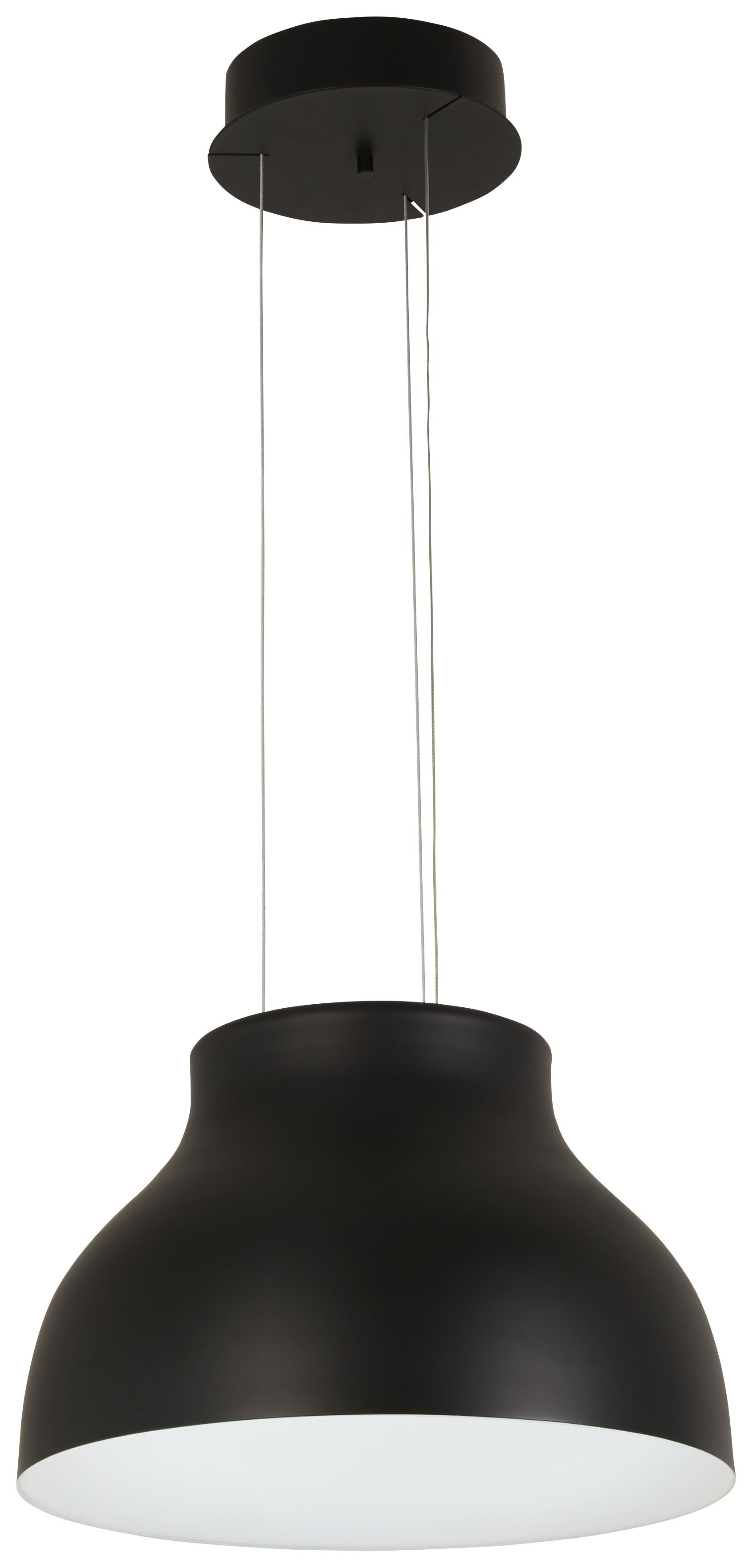Giuliani 1-Light Inverted Pendant Finish: Black
