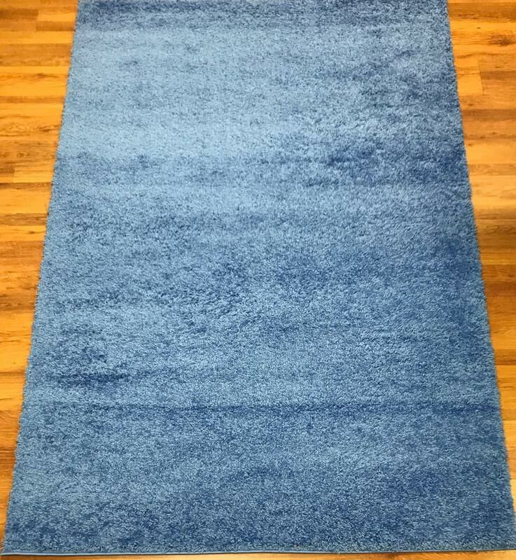 Morillo Star Shaggy Cozy Solid Blue Area Rug Rug Size: Rectangle  5'3