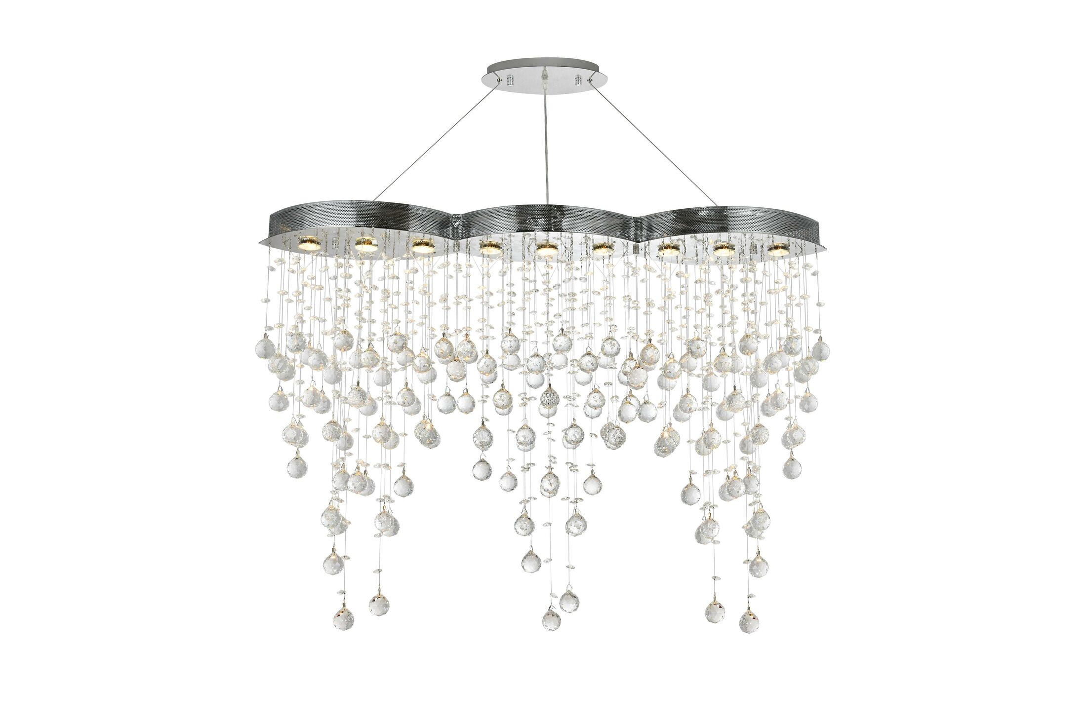 Pellerin 9-Light Crystal Chandelier Crystal: Swarovski Strass