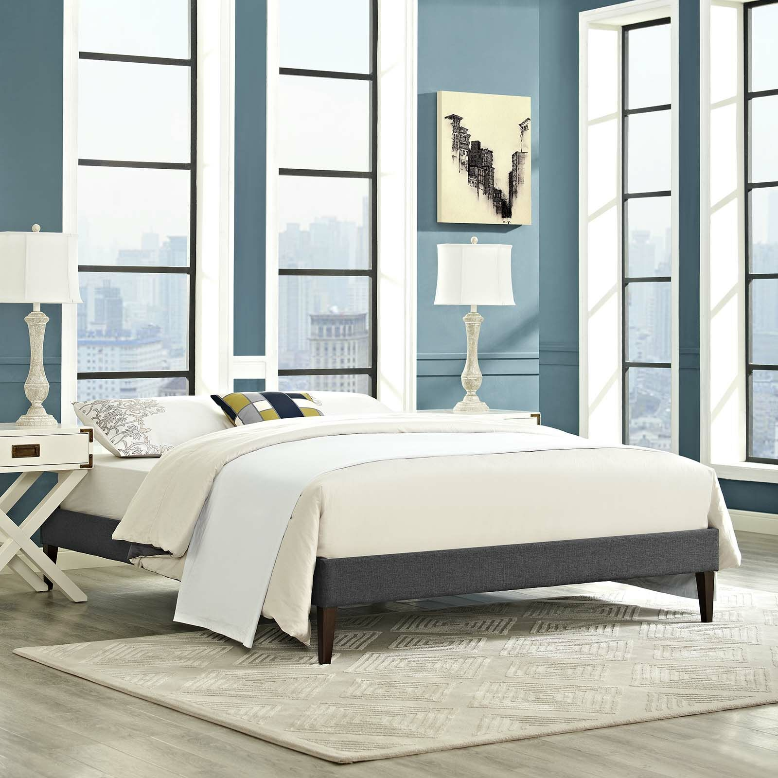 Dignan Upholstered Platform Bed Size: Queen, Color: Gray