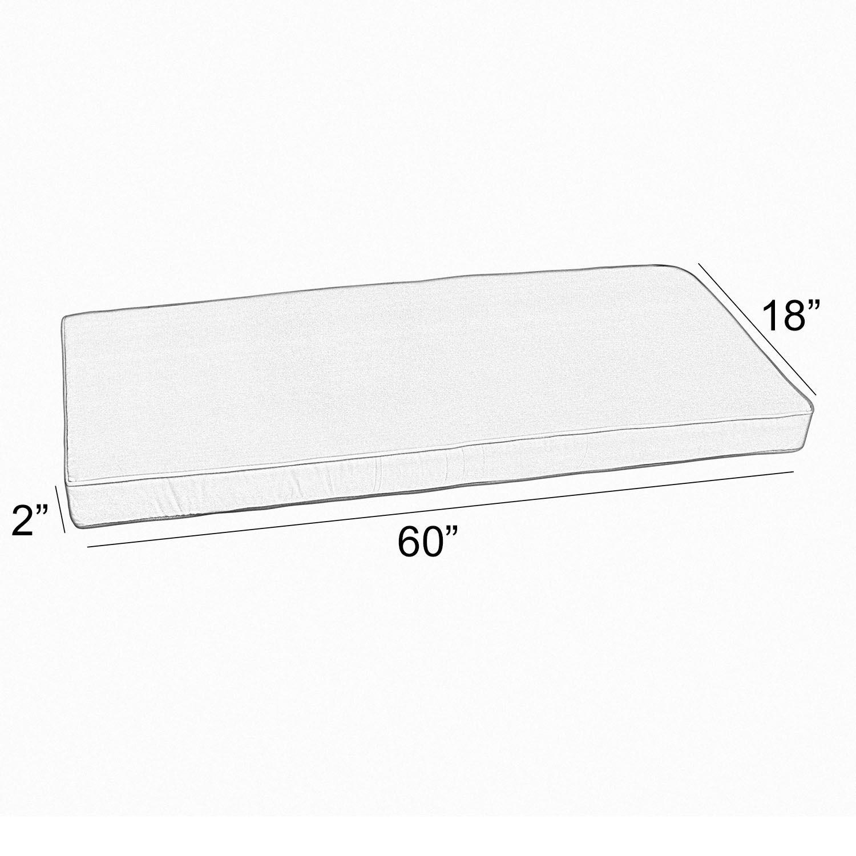 Outdoor Sunbrella Bench Cushion Size: 60