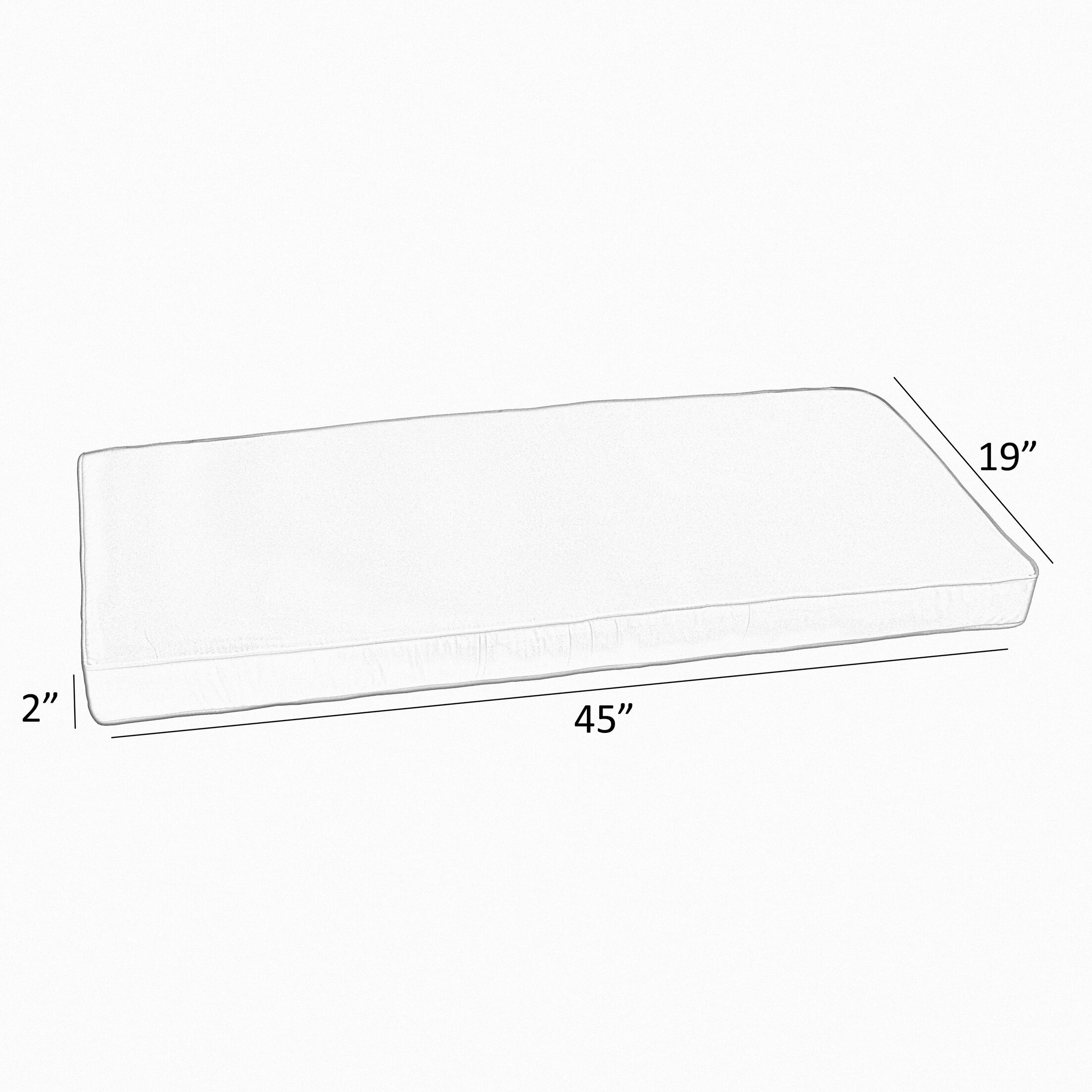 Indoor/Outdoor Sunbrella Bench Cushion Size: 45