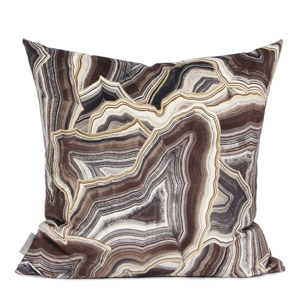 Hartman Digital Printing Pillow Color: Brown, Fill Material: Down/Feather