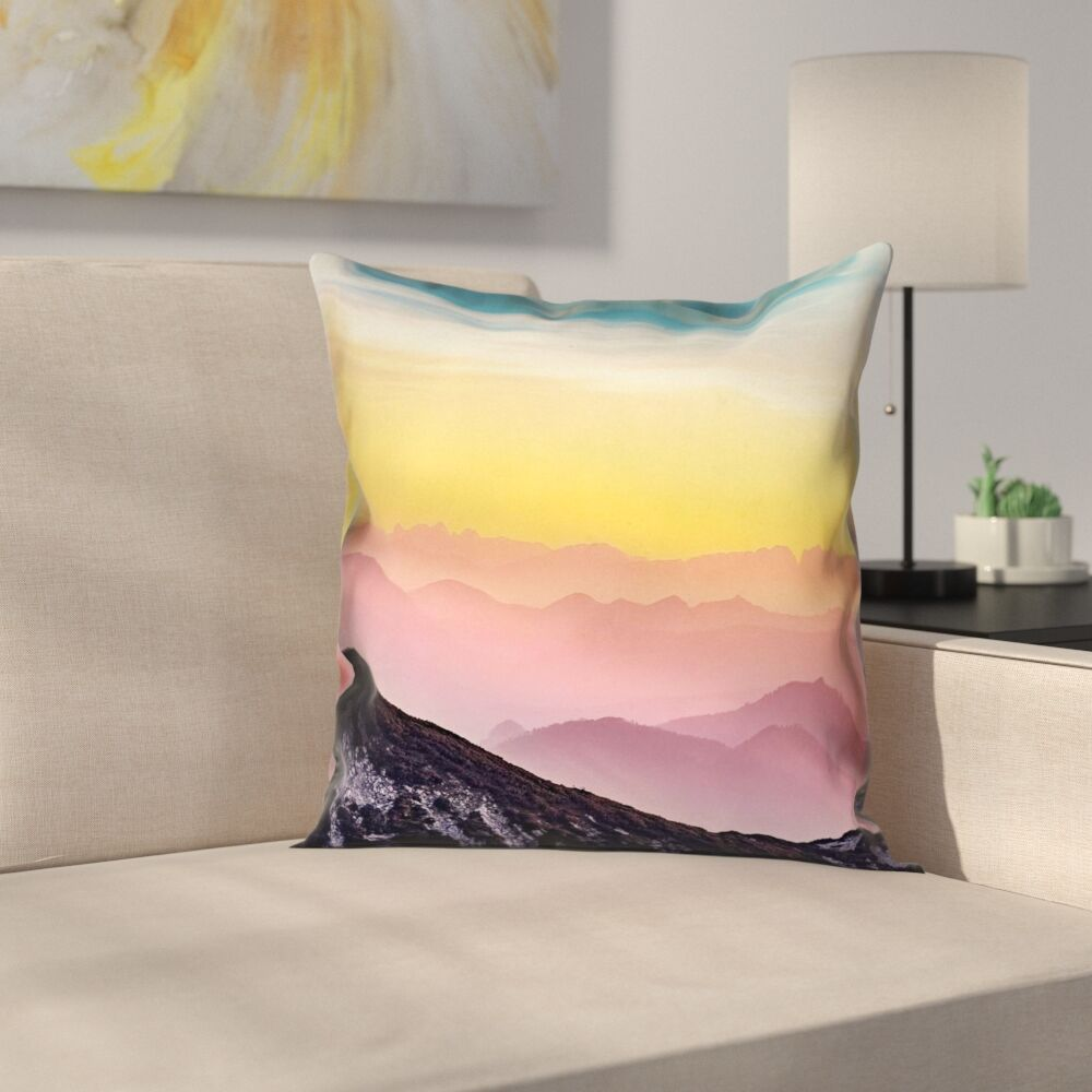 Thang Pastel Landscape Double Sided Print Pillow Cover  Size: 20