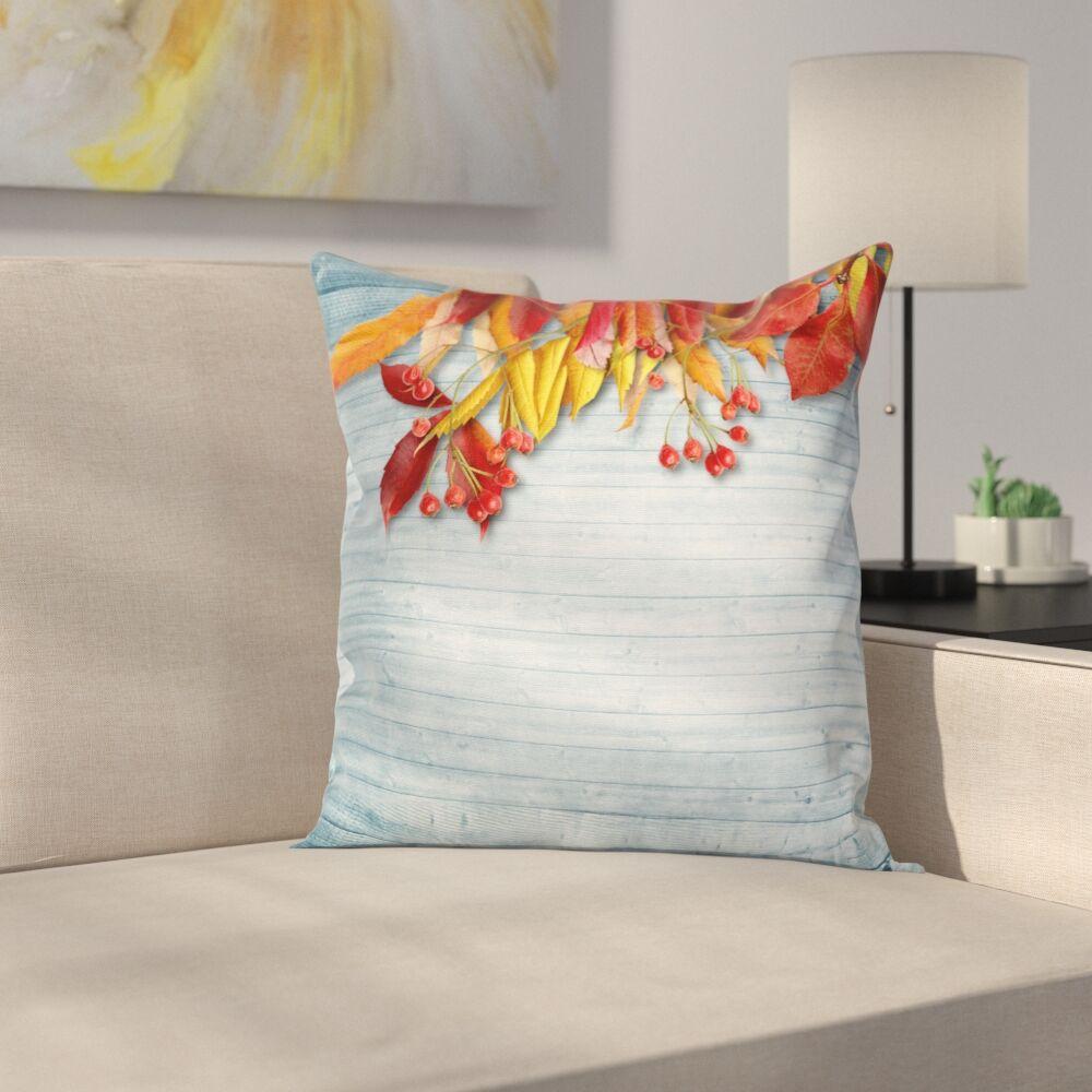 Vintage Rustic Autumn Square Pillow Cover Size: 20
