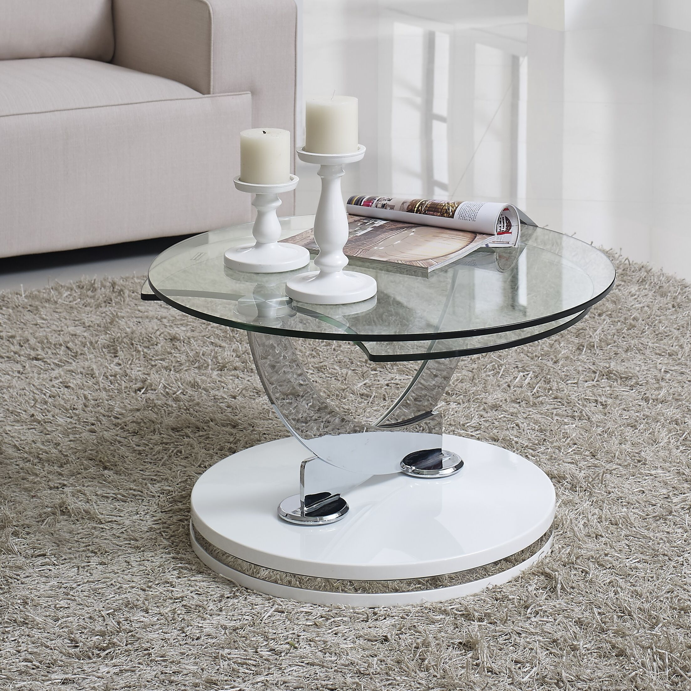 Parkin Coffee Table Color: White