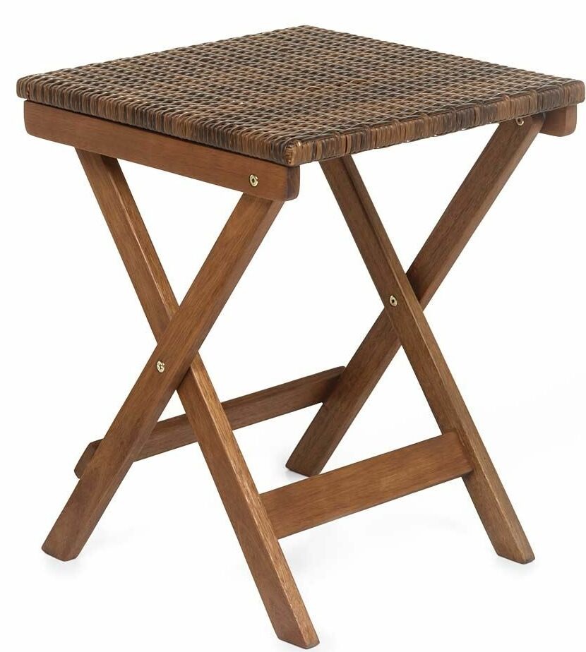 Claytor Folding Wood Side Table Color: Brown