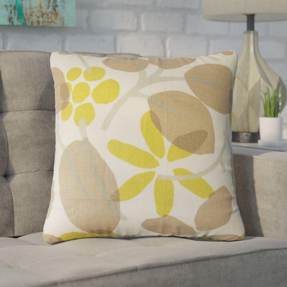 Goodyear Floral Cotton Throw Pillow