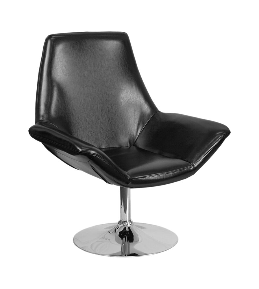 Sigler Leather Guest Chair Seat Color: Black