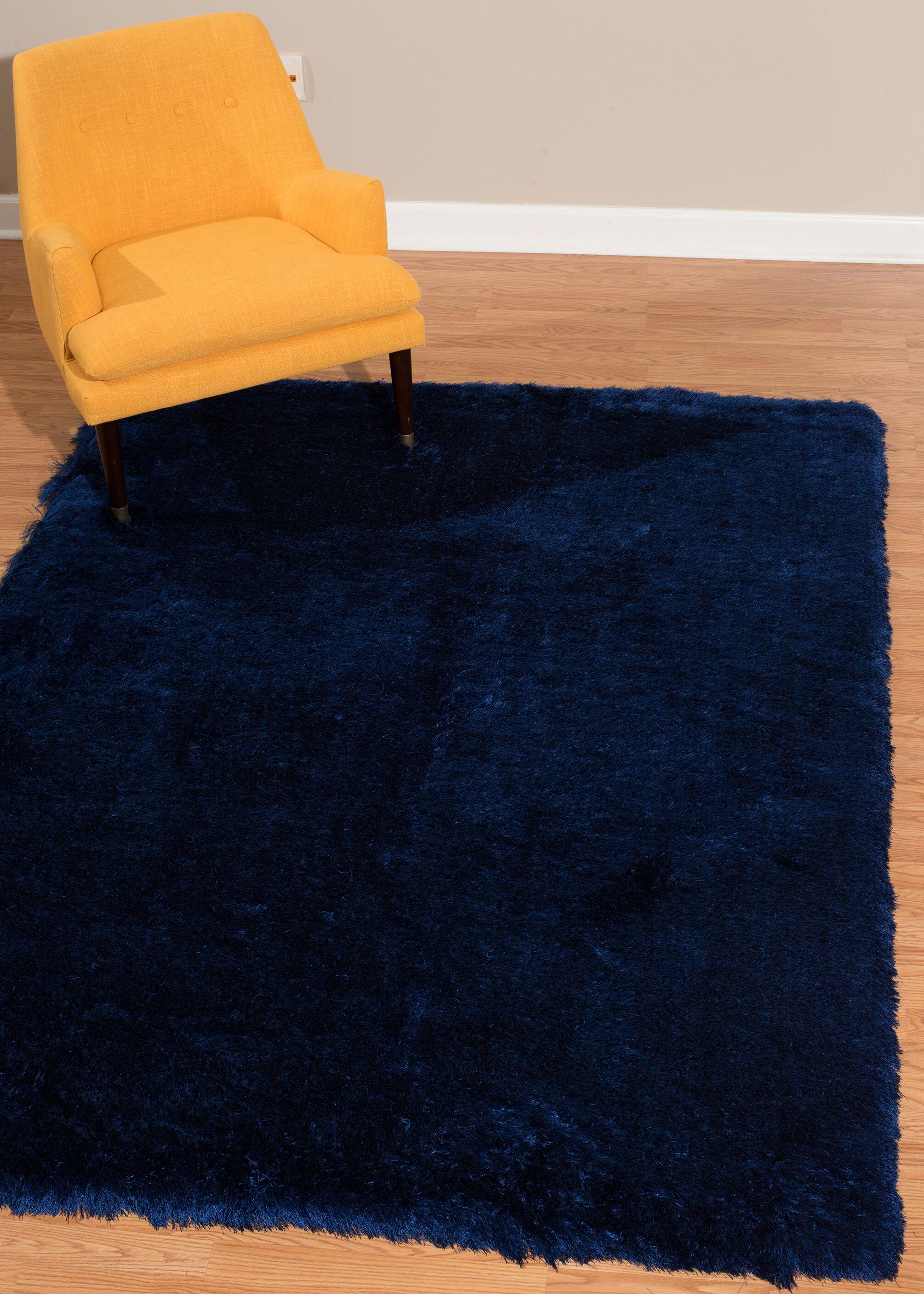 Kreutzer Navy Area Rug Rug Size: Rectangle 5'3
