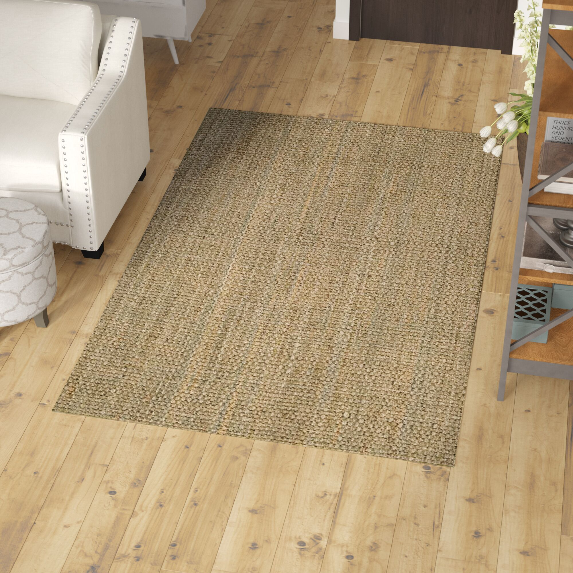 Camila Natural Area Rug Rug Size: 6' x 9'