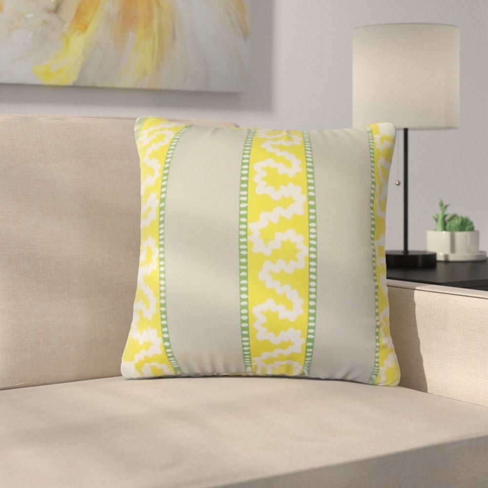 Royall Striped Cotton Throw Pillow