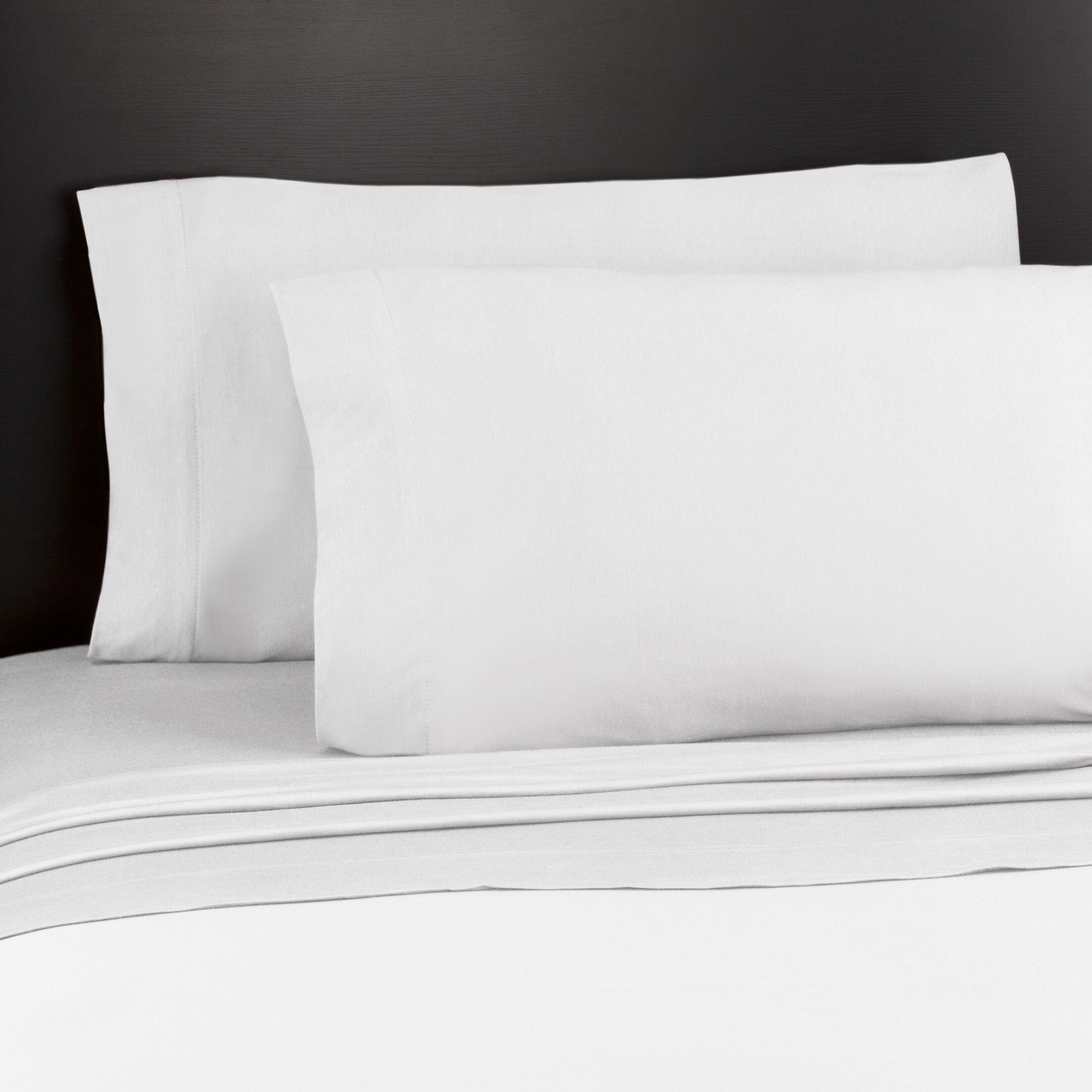 Soft Tees Knit Sheet Set Size: Full, Color: White