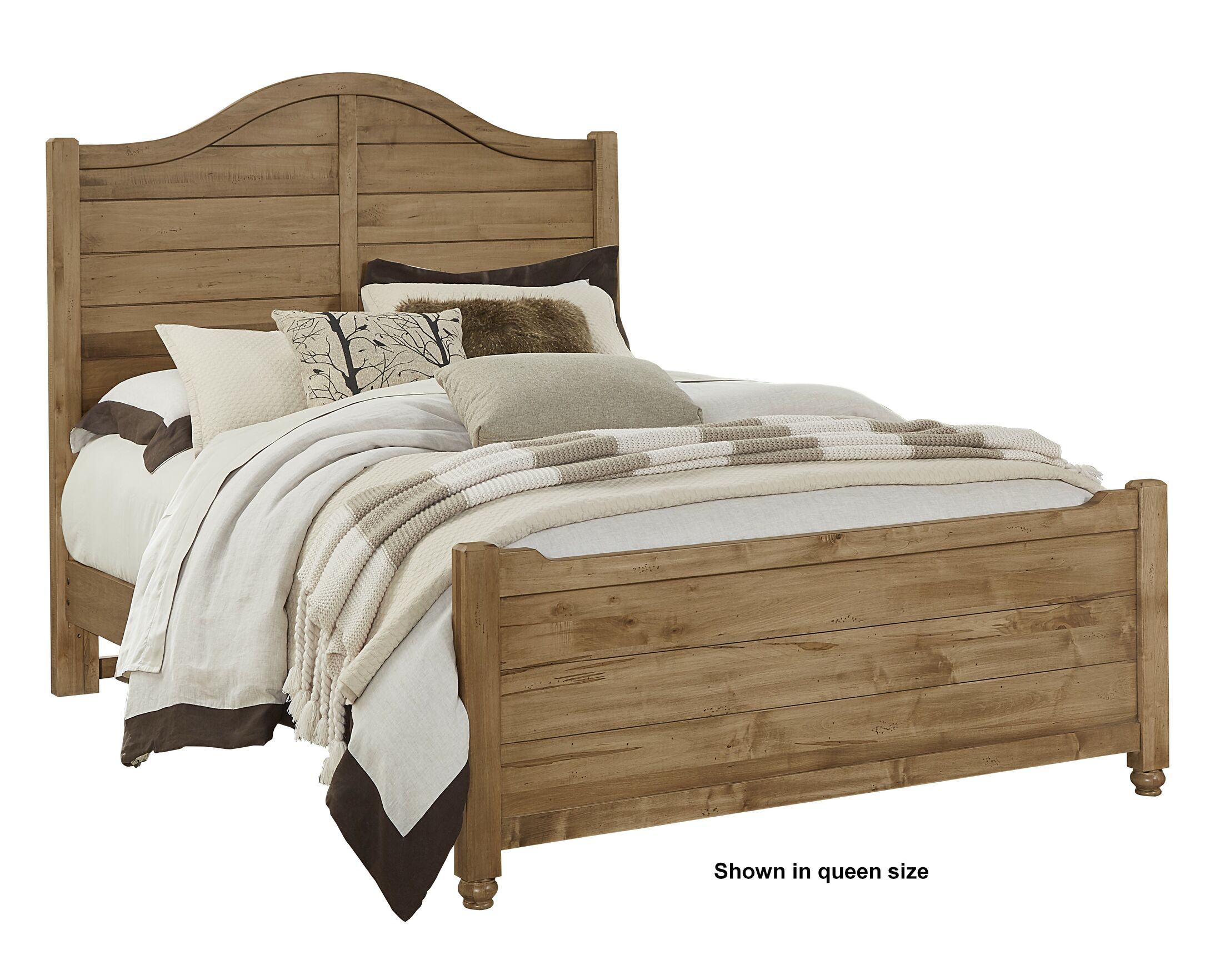Westerberg Maple Shiplap Panel Headboard Size: Queen, Color: Natural
