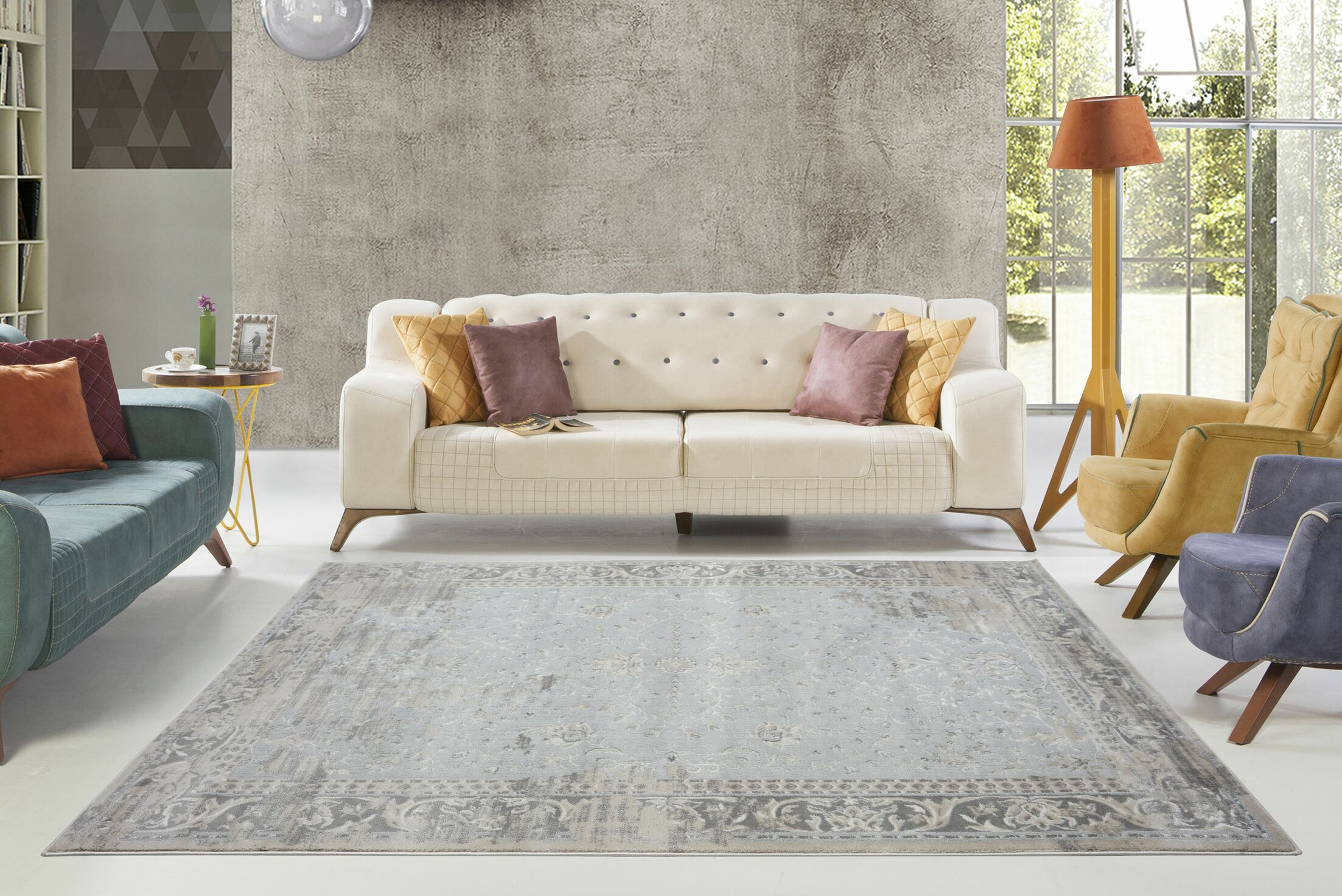 Dipasquale Champagne/Cream Area Rug Rug Size: Rectangle 5'3