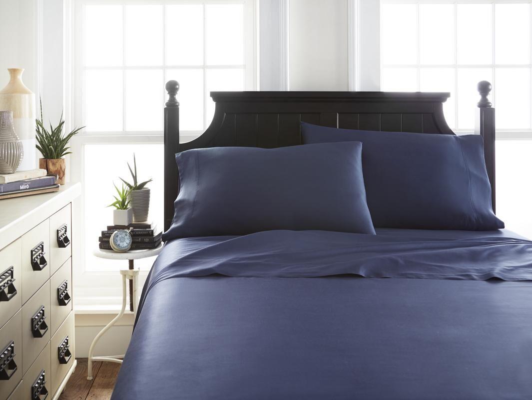Barton Sheet Set Size: Twin, Color: Navy