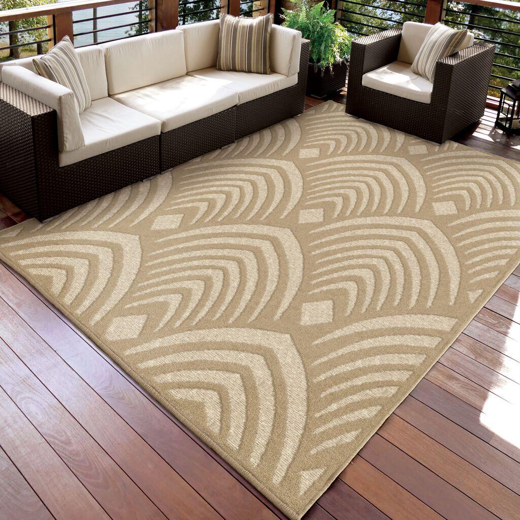 Taunton Beige Indoor/Outdoor Area Rug Rug Size: Rectangle 7'10