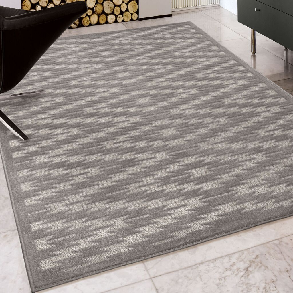 Lucey Gray Indoor/Outdoor Area Rug Rug Size: Rectangle 9' x 13'