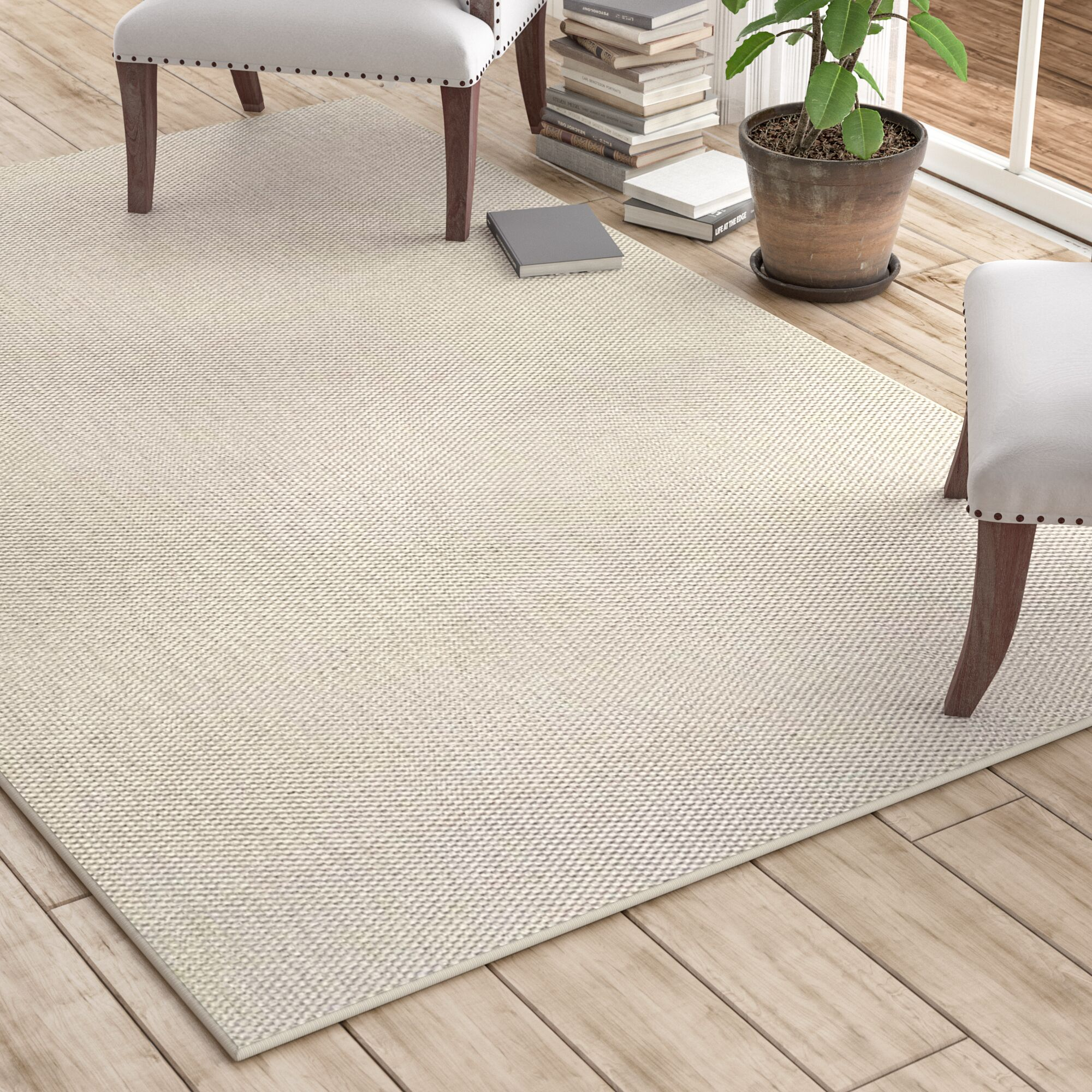 Paray Ivory Area Rug Rug Size: 9' x 12'