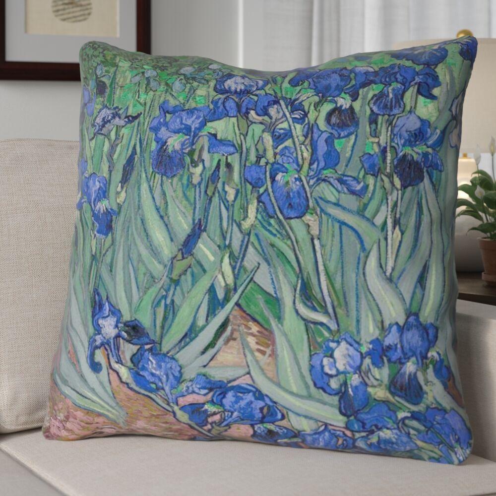 Morley Irises Euro Pillow Color: Blue