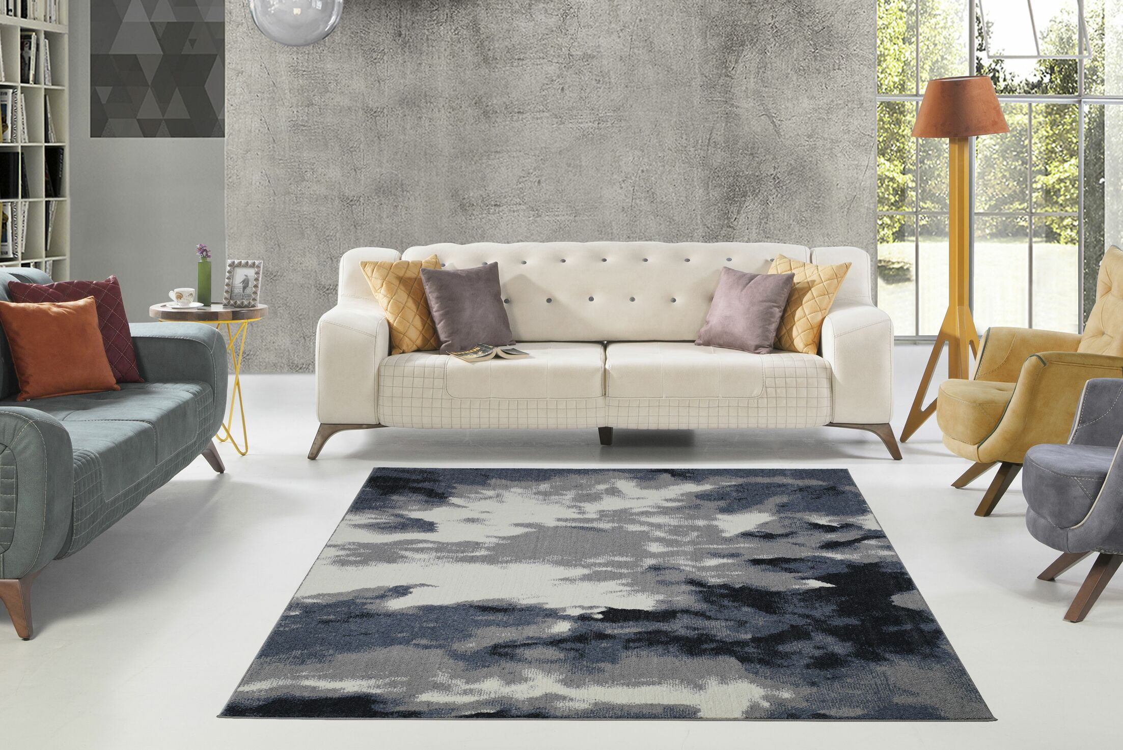 Toronto Toronto Sky Gray Area Rug Rug Size: Rectangle 5'3