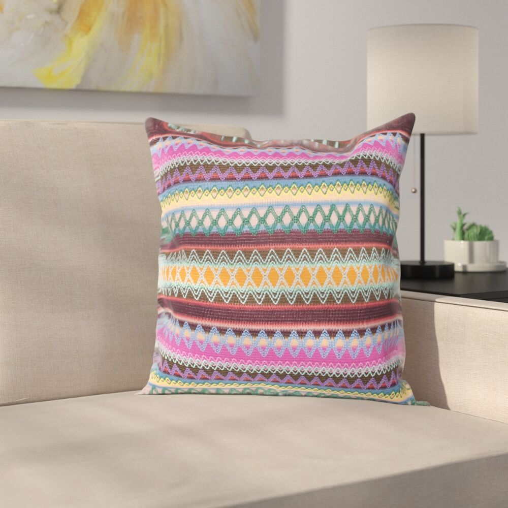 Aurelia Burst Throw Pillow Color: Chocolate Burst, Size: 22