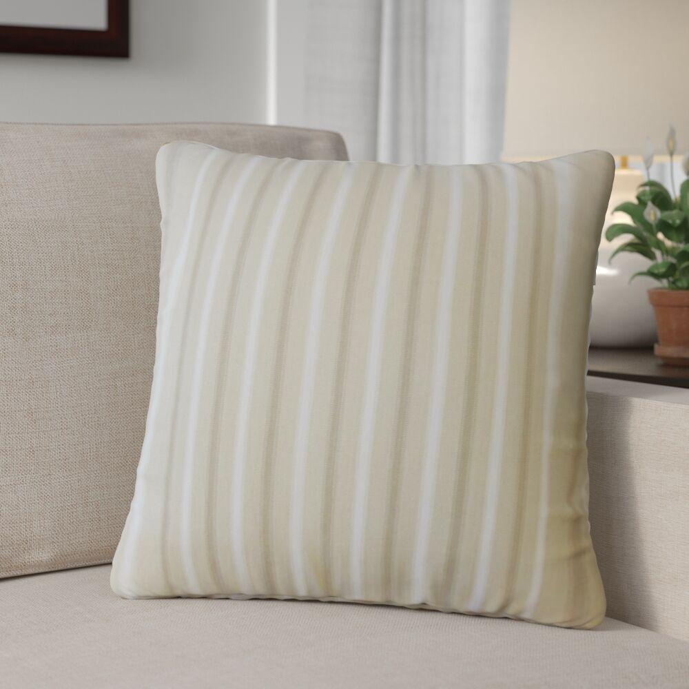 Camela Striped Down Filled 100% Cotton Throw Pillow Size: 22