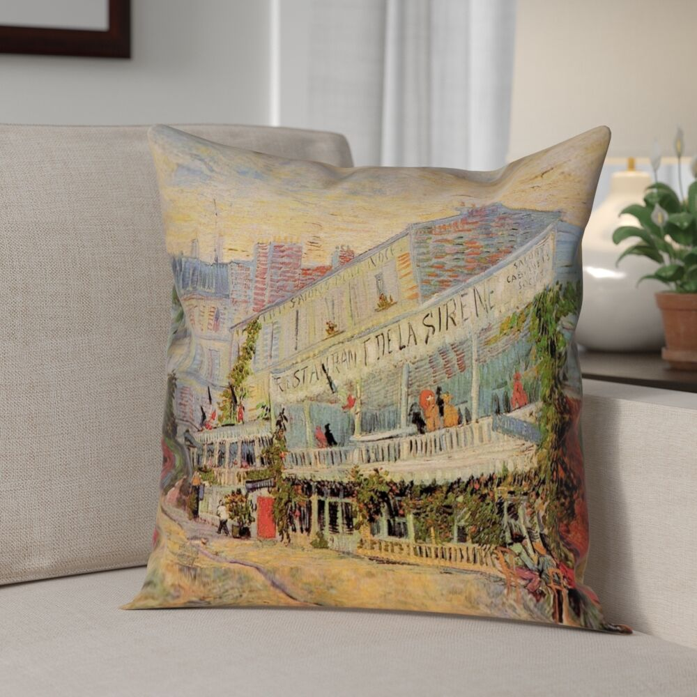 Bristol Woods Restaurant de la Sirene Double Sided Print Pillow Cover Size: 18