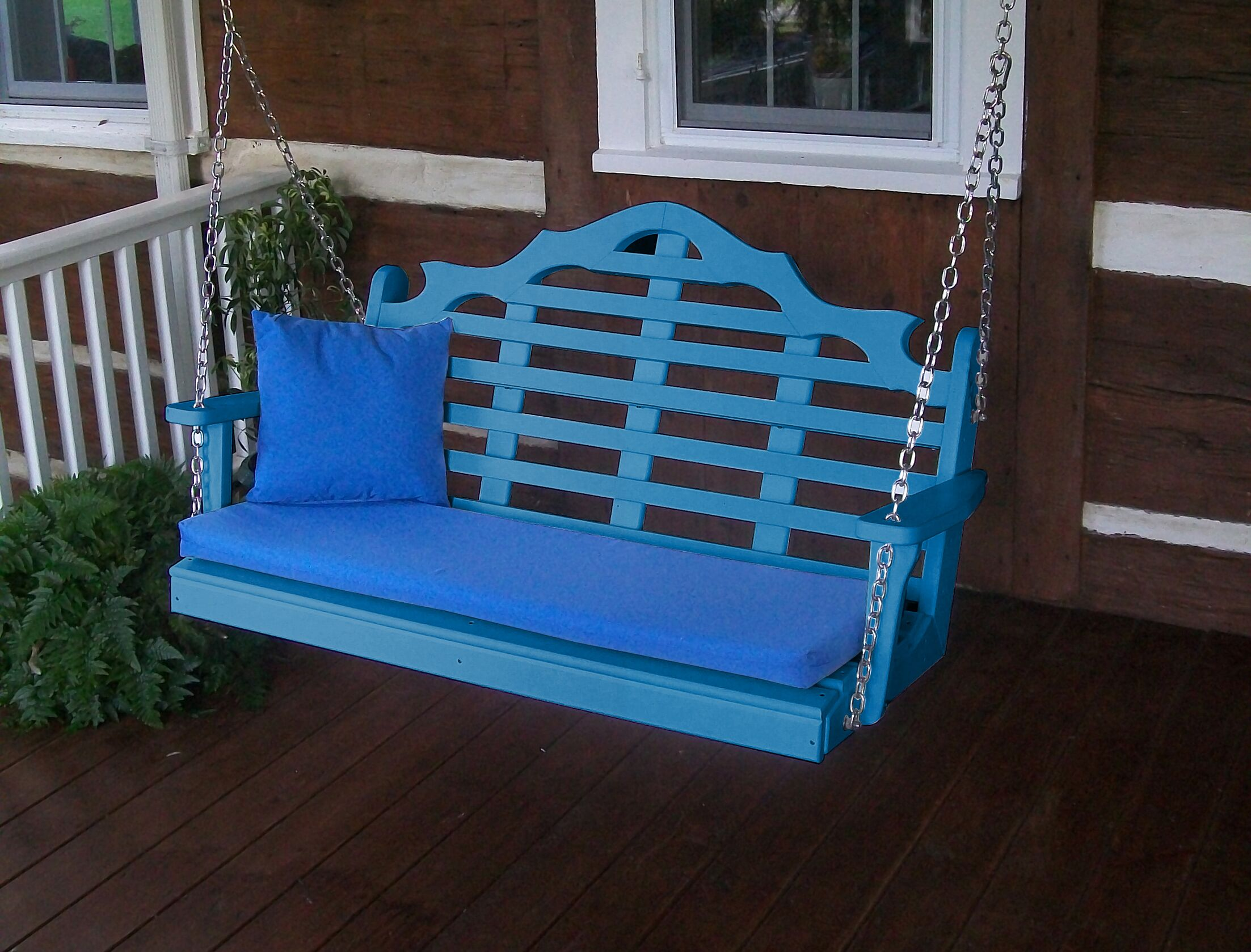 Durfee Porch Swing Color: Blue, Size: 27