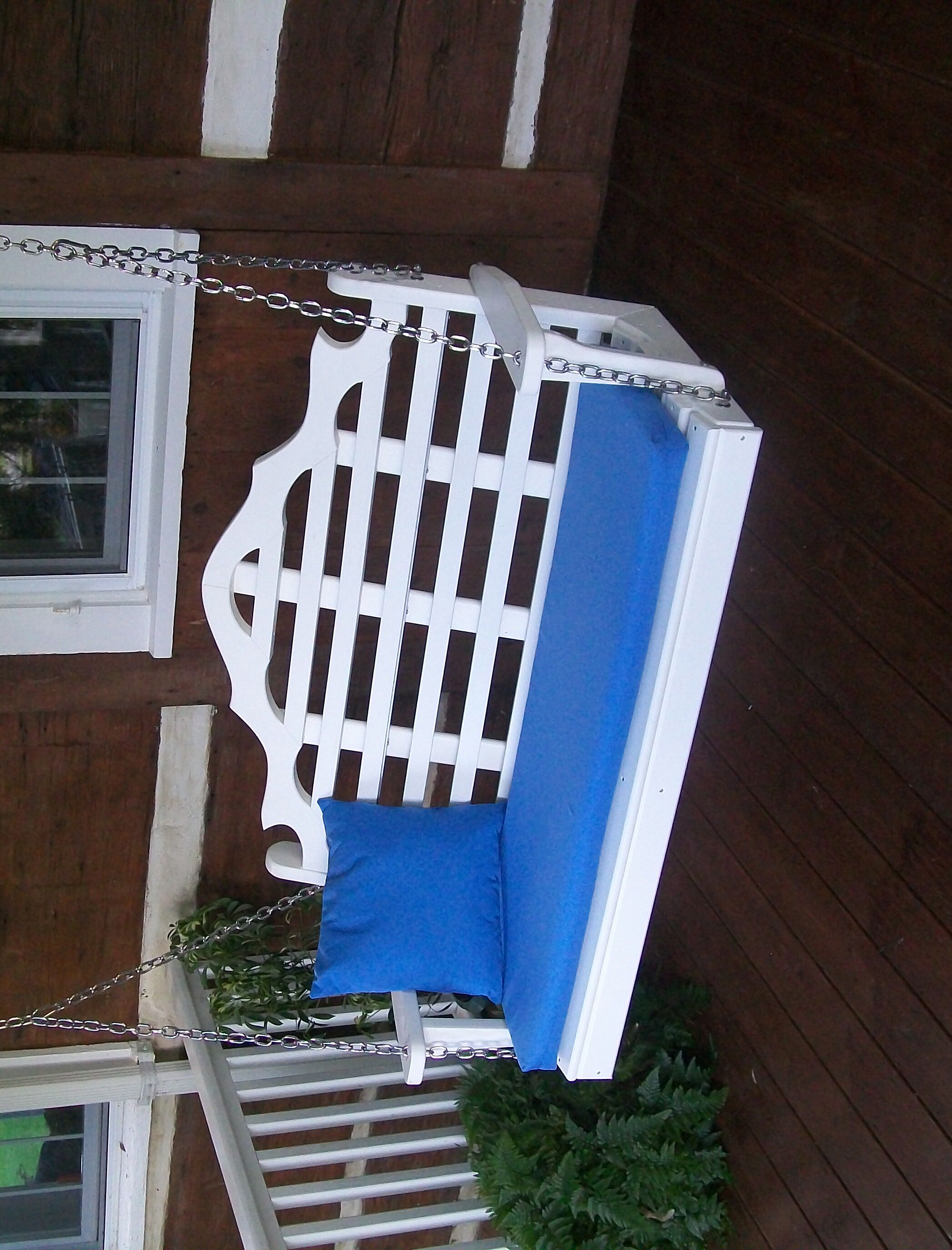 Durfee Porch Swing Color: White, Size: 27