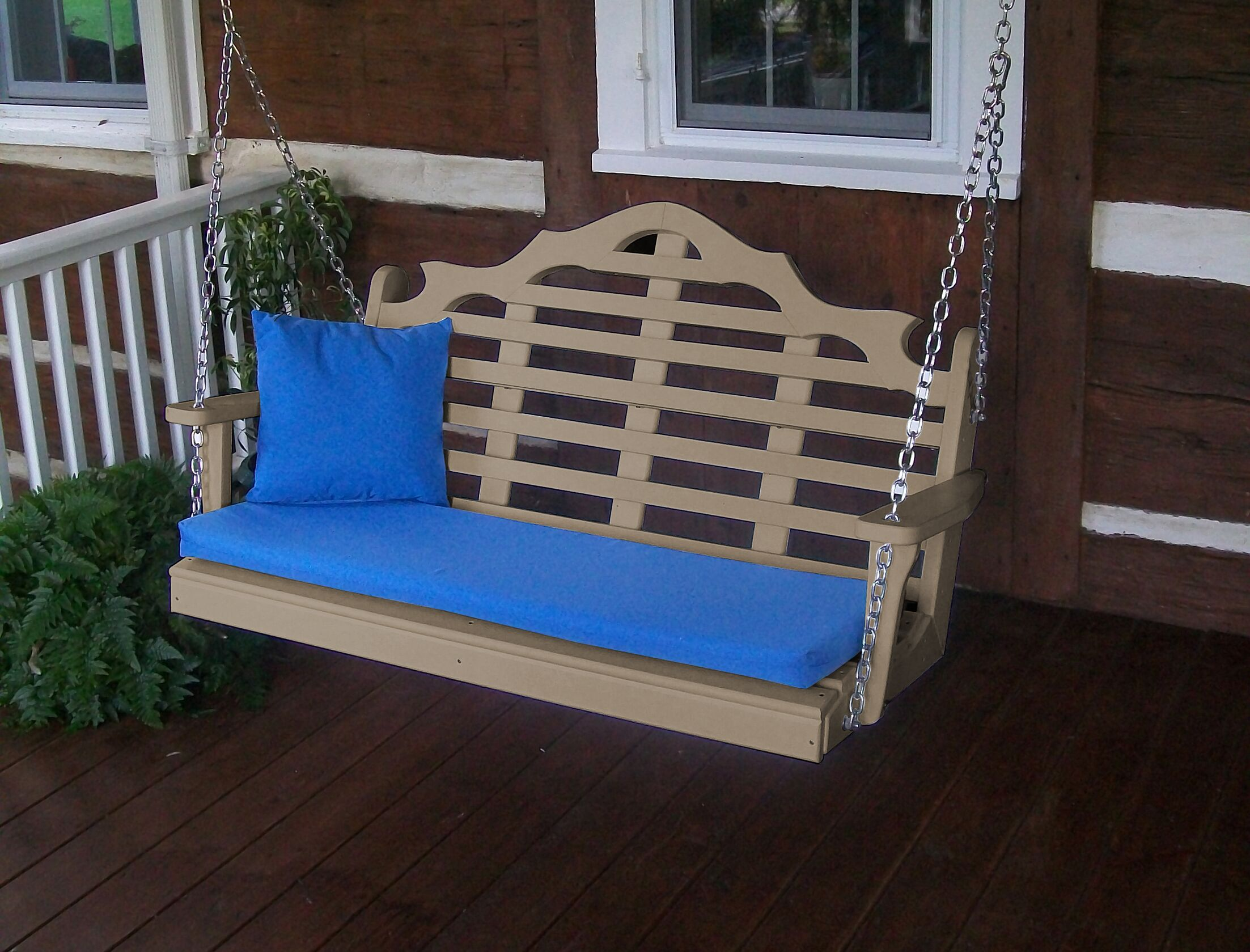 Durfee Porch Swing Color: Weathered Wood, Size: 27