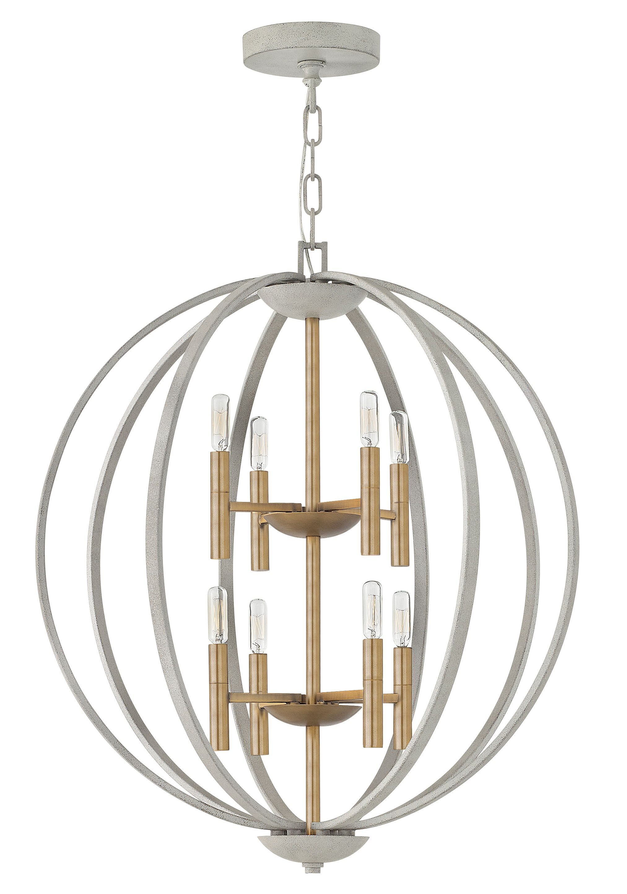 Euclid 8-Light Globe Chandelier